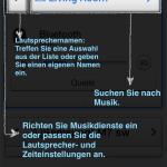 Nachdem alles fertig war zeigt uns die App an wie und wo etwas funtkioniert.