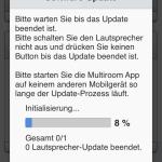 Das Samsung System benötigt ein komplett Update. Bei uns dauerte das Update rund 10 Minuten