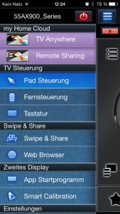 Panasonic TV Remote 2 Menü Übersicht