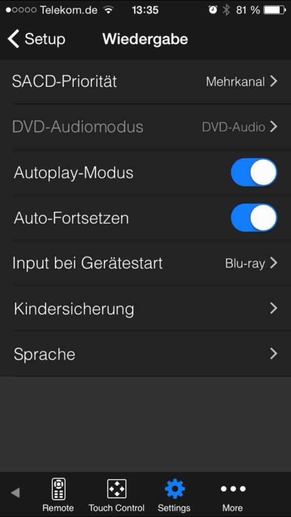 Oppo Media Controll App Settings