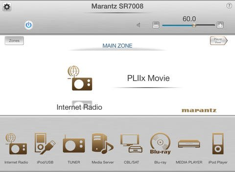 Marantz App iPad Screen