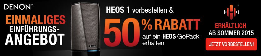 HEOS 1 Go Pack 50% Vorbesellen