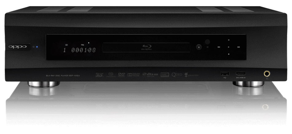 der oppo blu ray player bdp 105 in schwarz