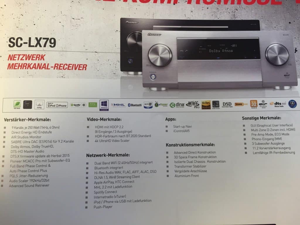 Pioneer A/V Reciever SC-LX79
