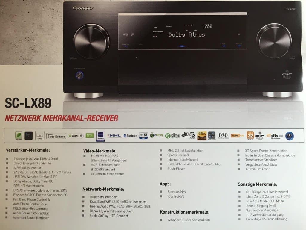 Pioneer A/V Reciever SC-LX89