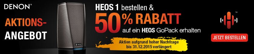 HEOS Multiroom - HEOS 1 Go Pack Aktion