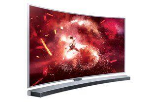 """Mit der Auswahl von elf verschiedenen Aktions-Soundbars bietet das Samsung """"Herbstkino Special"""" zu jedem Aktions-TV eine passende Audio-Ergänzung, wie beispielsweise die Curved Soundbar HW-J8501 zum SUHD TV JS9090."""