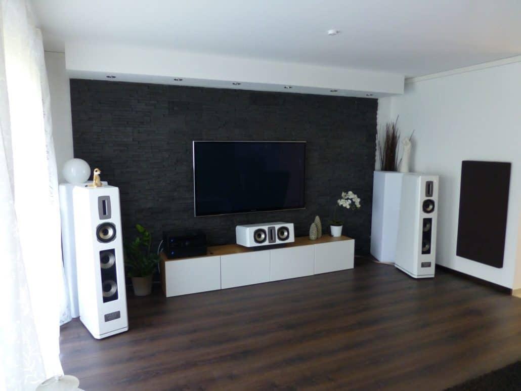 heimkino wohnzimmer integrieren, wohnraumkino stone - perfekte integration von technik im wohnraum, Ideen entwickeln
