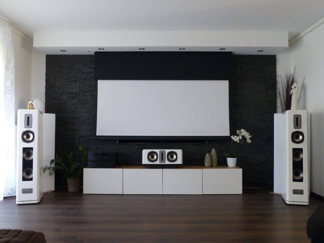 wohnraumkino stone perfekte integration von technik im. Black Bedroom Furniture Sets. Home Design Ideas