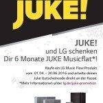 LG Music Flow Musicflat-Aktion mit JUKE!