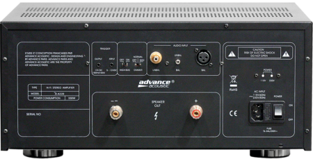 Advance Acoustic X-A220 Rueckseite