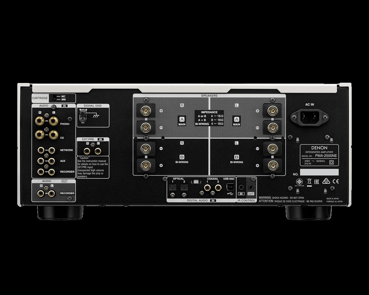 Denon PMA-2500AE Stereo-Vollverstärker Anschluesse