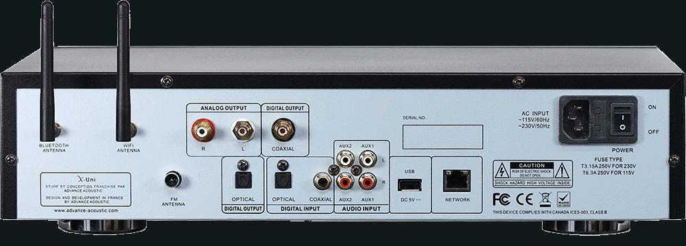 Advance Acoustic X-Uni Multisouce Rückseite