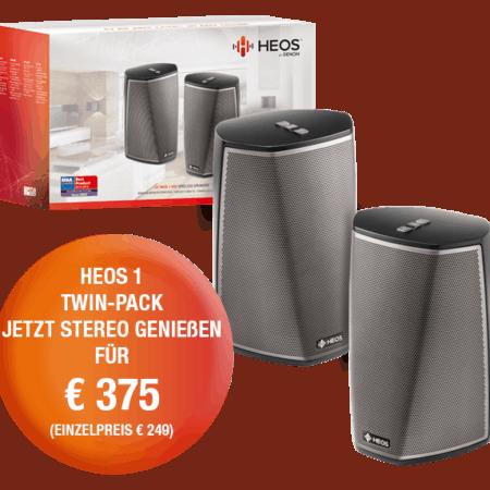 Heos 1 Stereo Bundle bzw. Zweiraumlösung