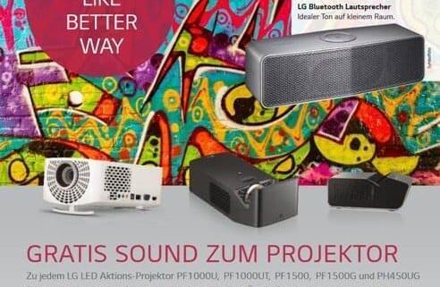 LG Speaker Aktion