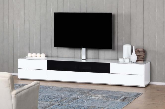 sonorous ex260 tv1 elegantes sideboard mit oberfl chen in glas holz. Black Bedroom Furniture Sets. Home Design Ideas