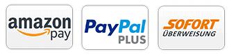 Amazon Pay PayPal Plus Sofort Überweisung