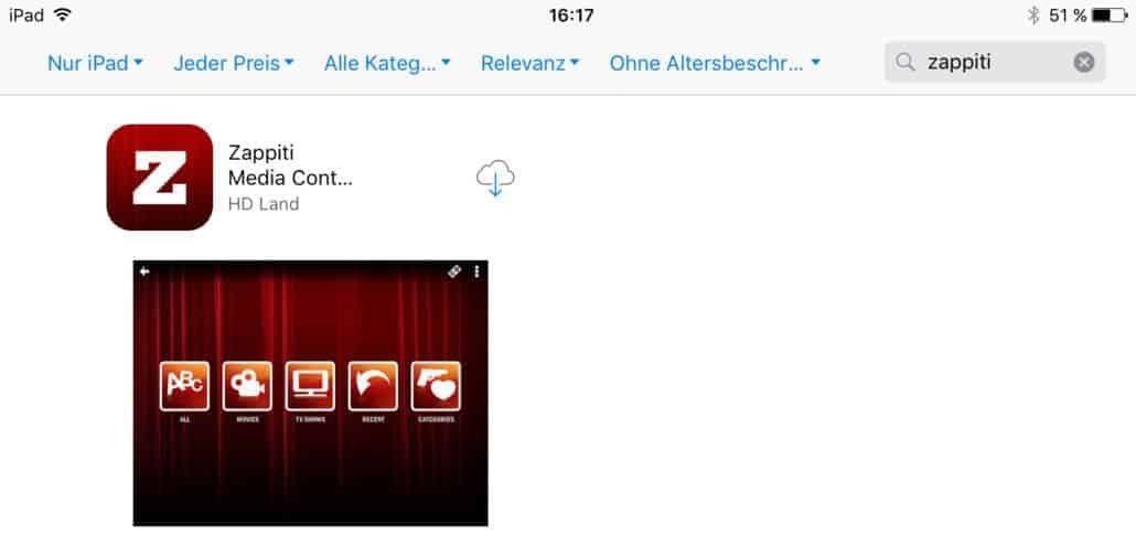 Zappiti Media Control App App Store