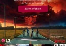 LG und Netflix erneuern Angebot für OLED- und Super-UHD-TVs