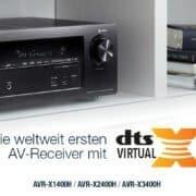 Die weltweit ersten AV-Receiver mit DTS Virtual:X