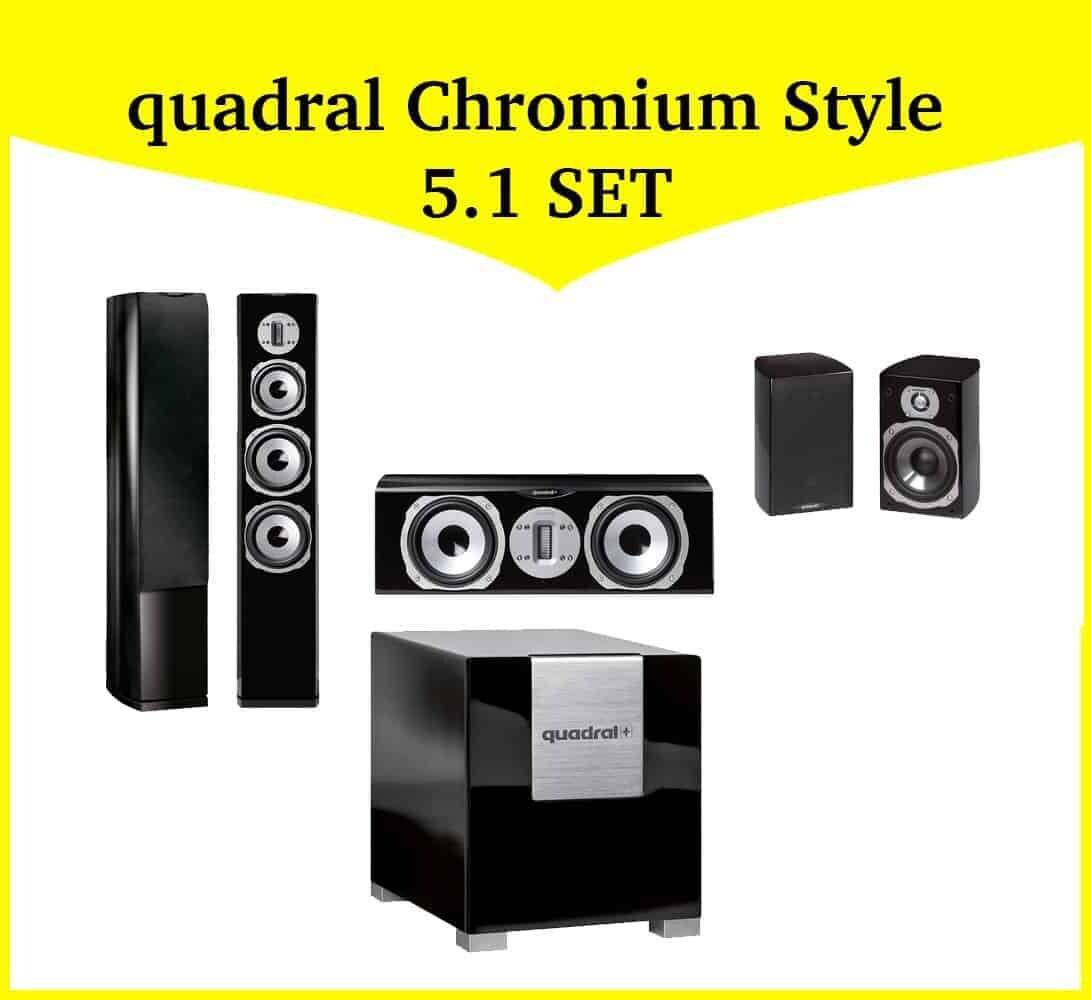 quadral chromium style 5 1 set 1 heimkinopartner. Black Bedroom Furniture Sets. Home Design Ideas