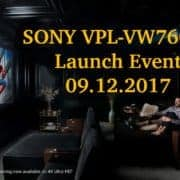 Sony VPL-VW760ES Launch Event