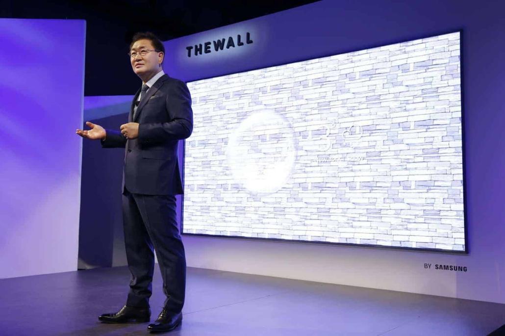 """CES 2018: Samsung präsentiert """"The Wall"""" – den weltweit ersten modularen 146 Zoll MicroLED TV"""
