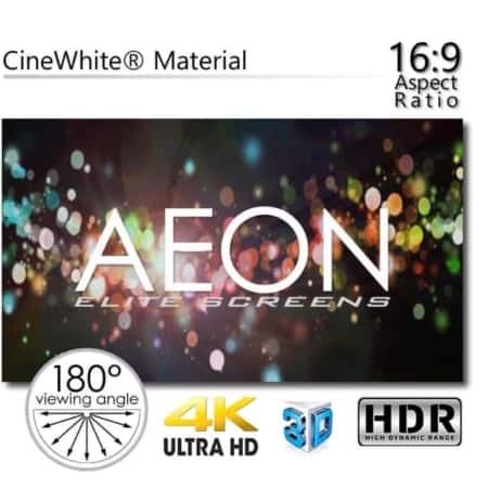 "Elite Screens Aeon Edge Free CineGrey 5D 150"" Zoll"
