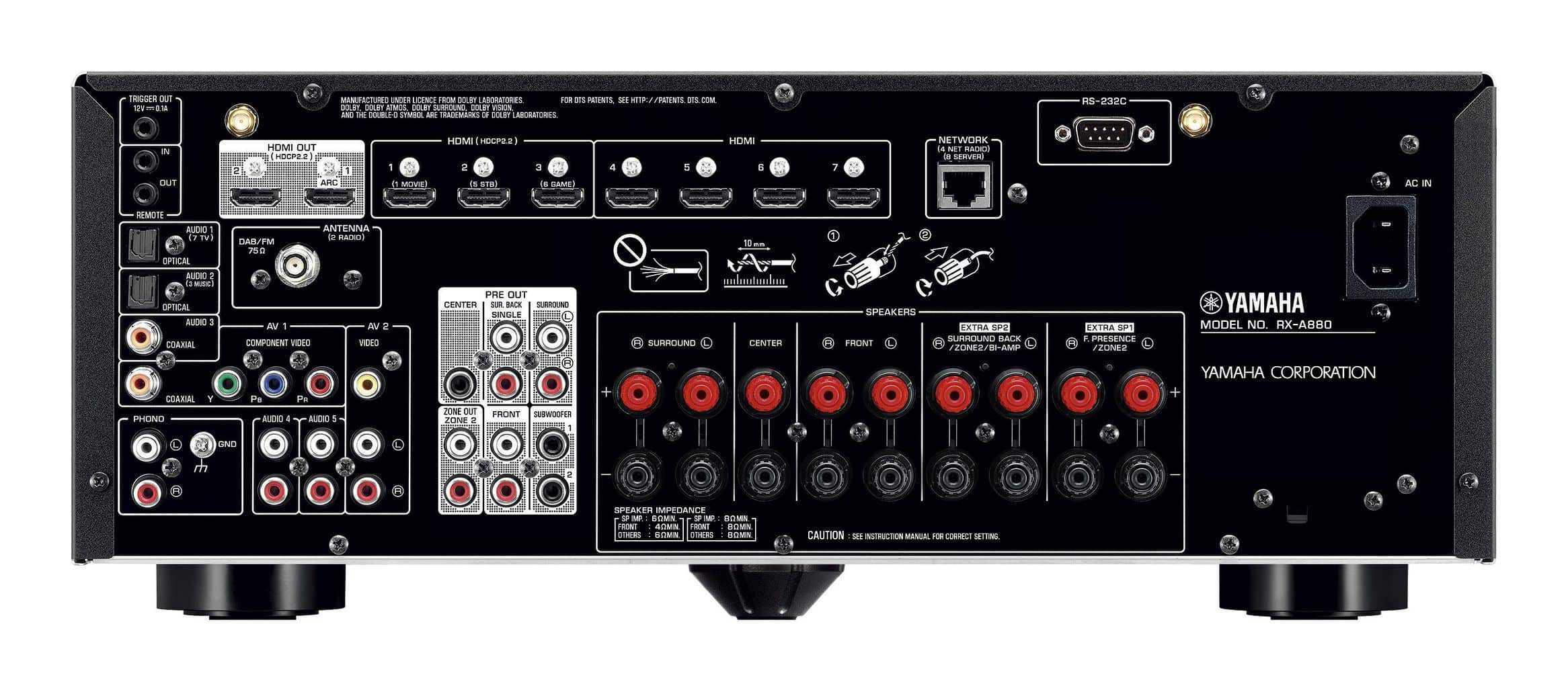 Yamaha rx a880 7 2 kanal aventage heimkinopartner for Yamaha rx v450 av receiver price