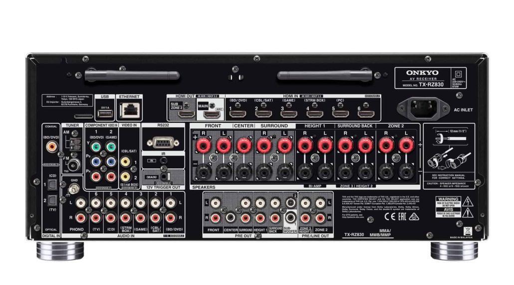 TX-RZ830 (B) Rear