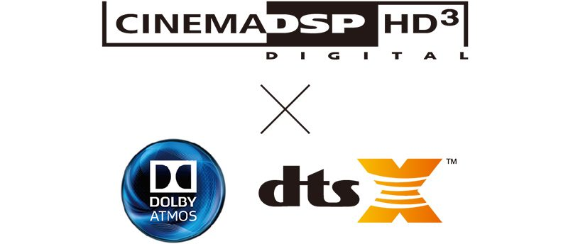 DTS:X Dolby Atmos CinemaDSP