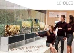 LG 65R9 OLED mit Einrollbarem Bildschirm