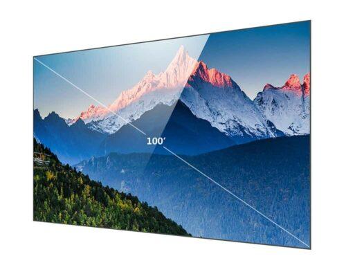 Black Grid Edge Free CLR LaserTV Screen
