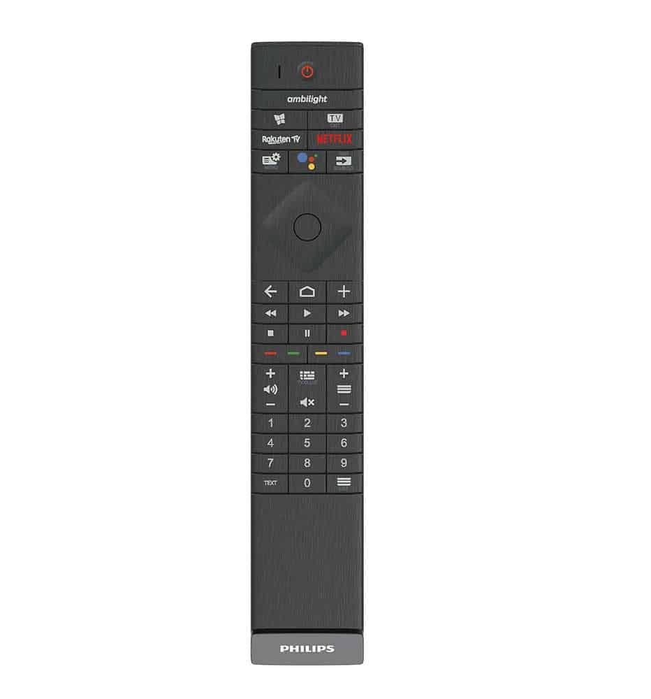 Die neuen Philips OLED-TVs Serie 800 Fernbedienung