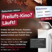 Freiluft-Kino? Läuft! LG Presto mit 200,00 EUR BestChoice Gutschein