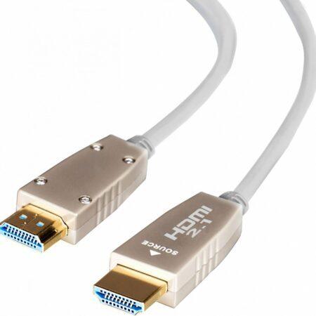 UHD Fibre HDMI Kabel 48Gbps weiß
