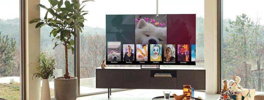 Samsung führt TikTok auf Smart TVs ein