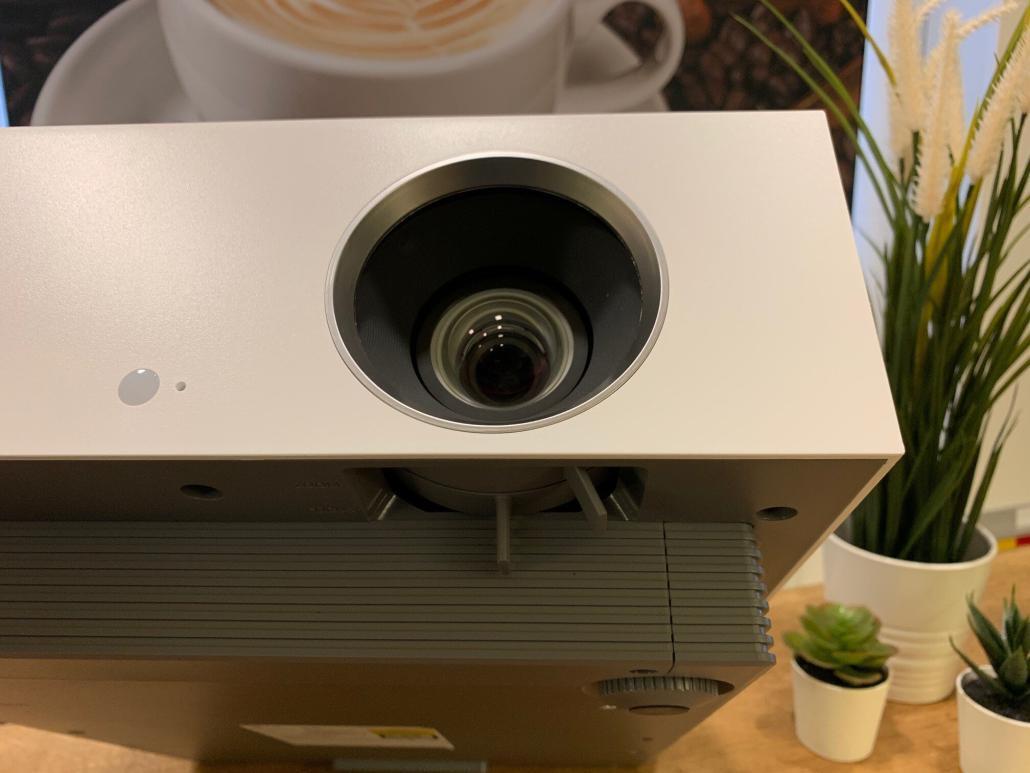 LG CineBeam AU810PW Schärfe und Zoom