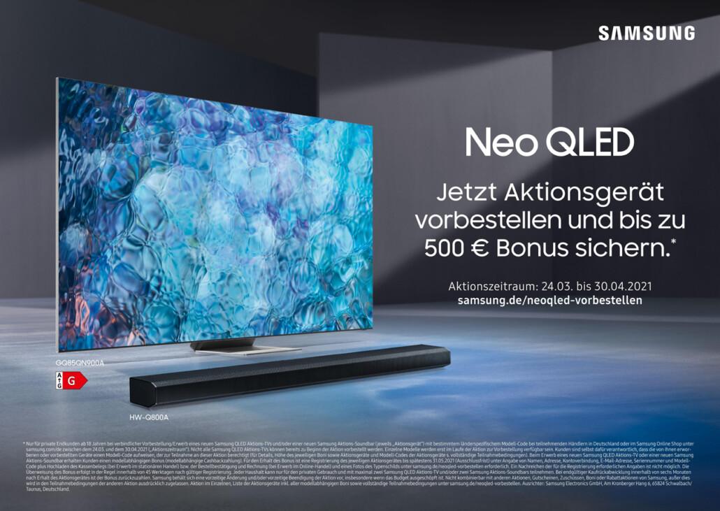 Samsung Bonus dank Preorder Promotion