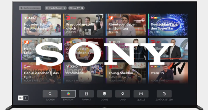 Bei Sony-TVs HD+ bald an Bord