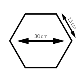 Polsterpaneel Oslo Hexagon